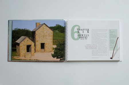 Lubbock Print Design - NRHC Time & Territory Book - Another Spread of house