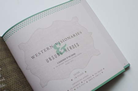 Lubbock Print Design - NRHC Wester Visionaries - Front page