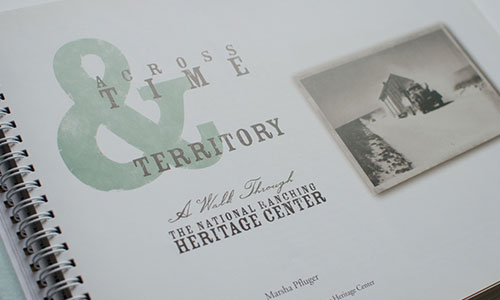 Lubbock Print Design - NRHC Time & Territory Book - Thumbnail