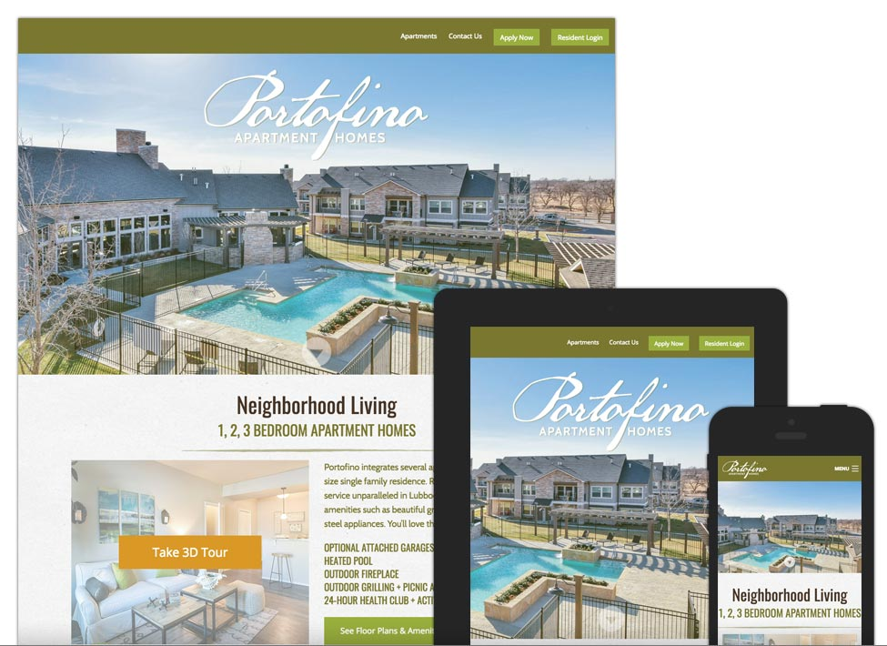 web portofino sample - Apartment Website Design