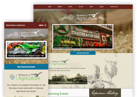 Bayer Agriculture Museum - Website Design