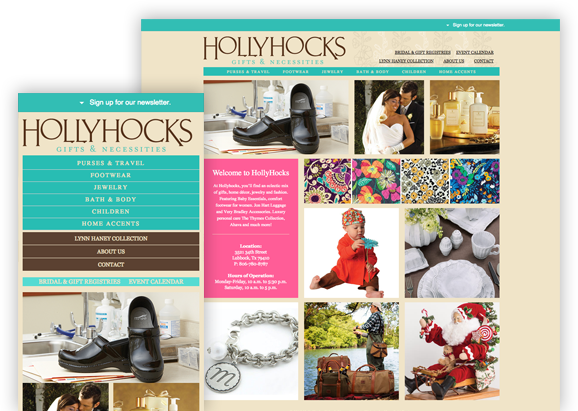 Hollyhocks - Website Design