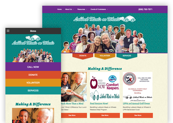 Lubbock Meals on Wheels - Website Design