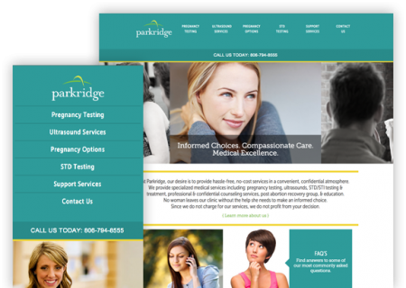 Parkridge - Website Design
