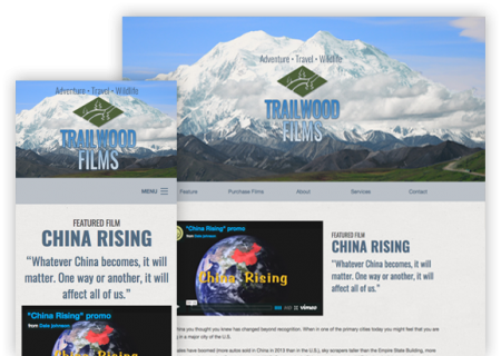 Trailwood Films - Website Design
