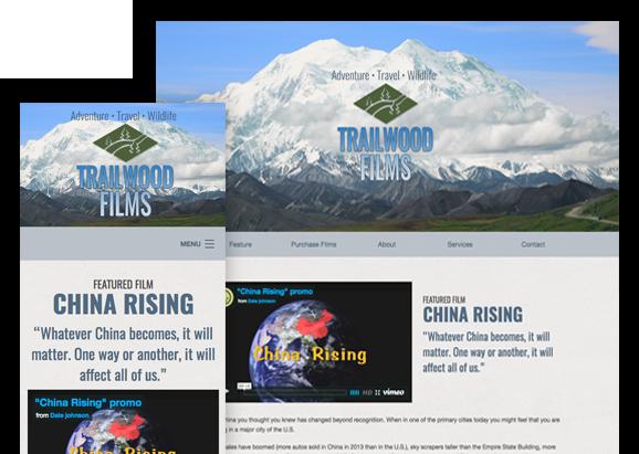 Trailwood Films - Website Design
