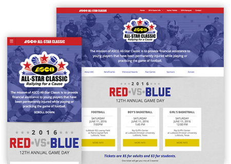 ASCO All-Star Classic - Website Design