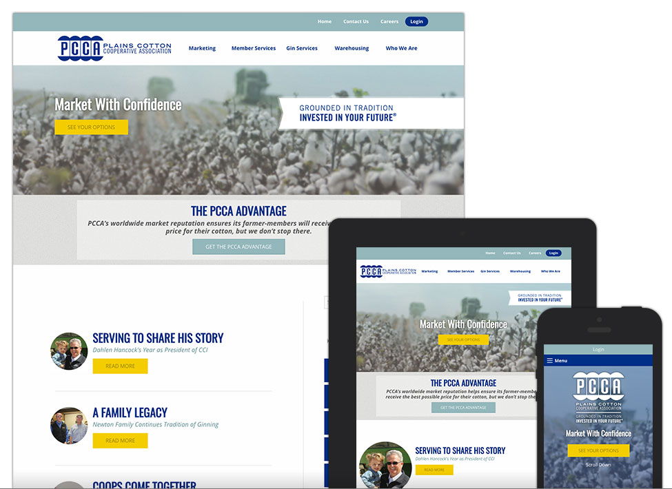 Plains Cotton Cooperative Association - Website Design