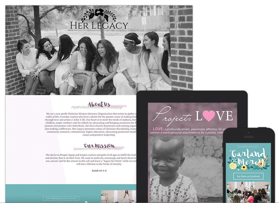 Her Legacy - Lubbock Website Design