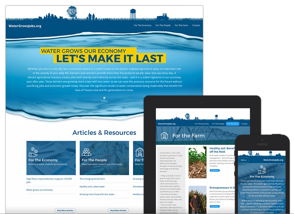 Water Grows Jobs - Website Design