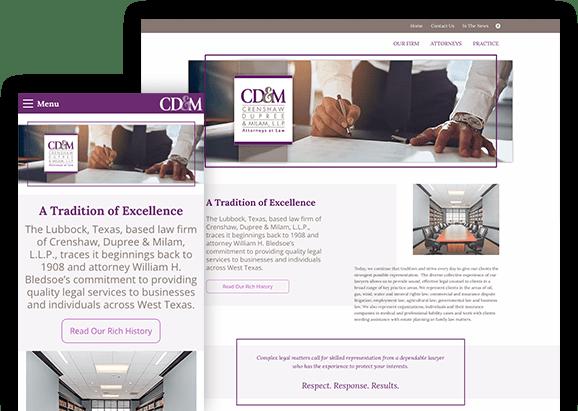 Crenshaw, Dupree & Milam - Lubbock Web Design - Hartsfield Design