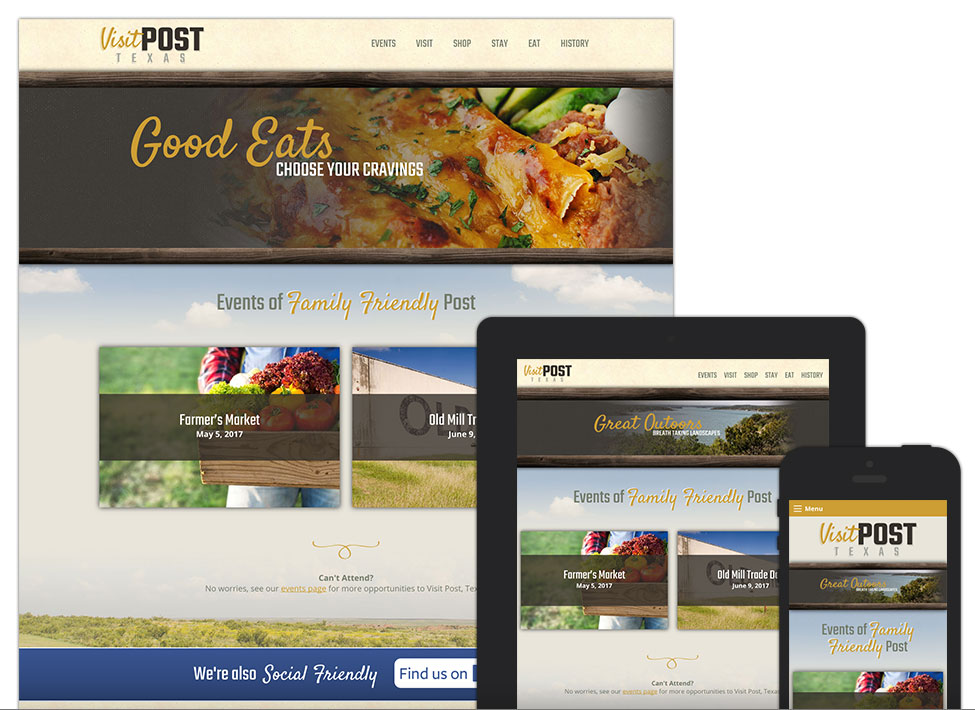 Post Texas - Lubbock Web Design - Hartsfield Design
