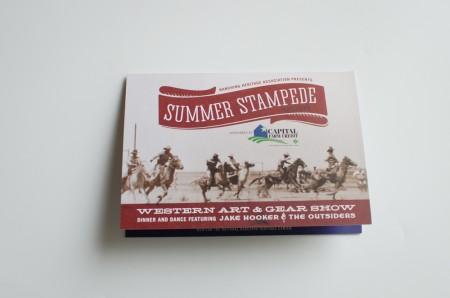 Lubbock Print Design - Summer Stampede - Invitation Cover
