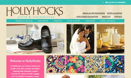 Lubbock Web Design - Hollyhocks Gifts by Hartsfield Design