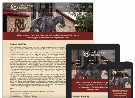 Lubbock Web Design - Ranching Heritage Association by Hartsfield Design