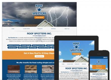 Lubbock Web Design - Roof Spotters by Hartsfield Design