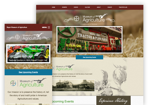 Bayer Agriculture Museum - Website Design