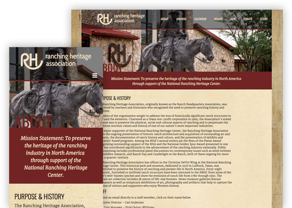 Ranching Heritage Association - Website Design