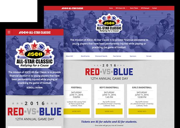 ASCO All-Star Classic - Website Design