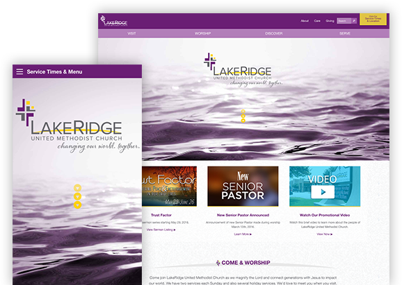 Lakeridge United Methodist Church - Website Design