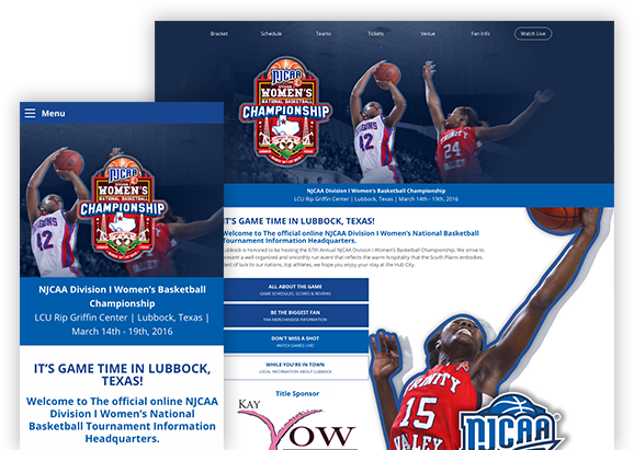 NJCAA Division I Women's Basketball Championship - Website Design