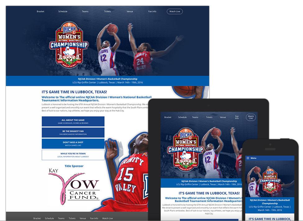NJCAA Division I Women's Basketball Championship - Website Design