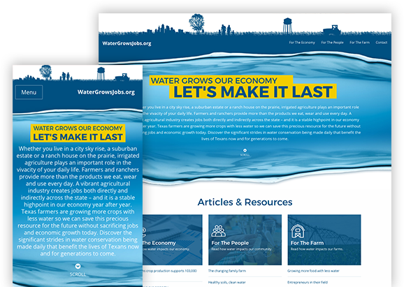 Water Grows Jobs Website
