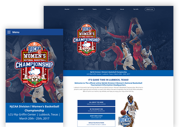 NJCAA - Web Design - Hartsfield Design